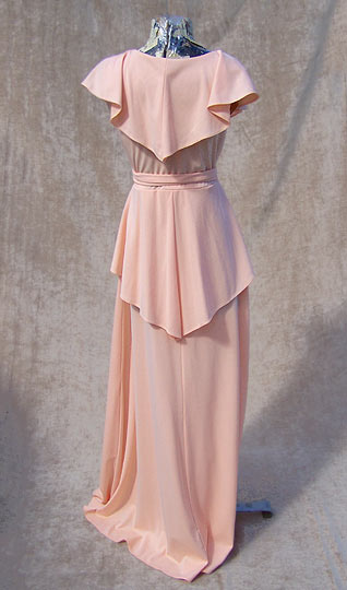 vintage 70s 30s-style prom gown
