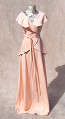 vintage 70s 30s-style evening dress