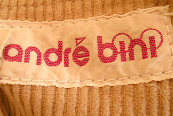 vintage early 80s Andre Bini label