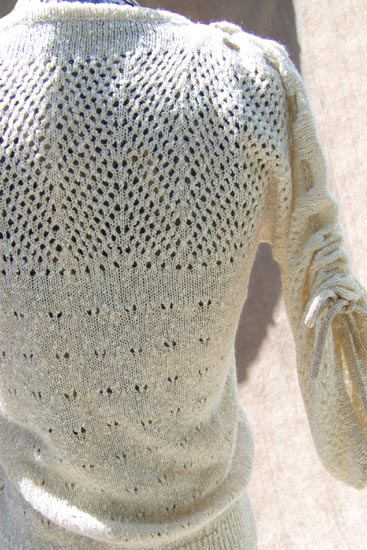 70s metallic boucle sweater