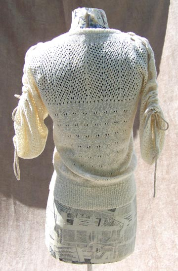 70s gold mesh sweater