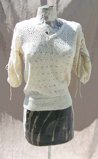 vintage 70s metallic mesh sweater