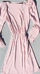 vintage 80s pink chiffon dress