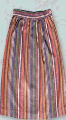 vintage 70s striped skirt