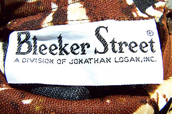 vintage 70s bleeker street label