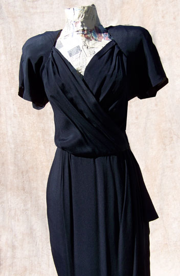 vintage 80s retro-40s sarong dress