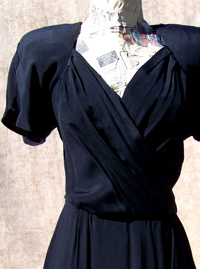 vintage 80s 40s-styled sarong dress