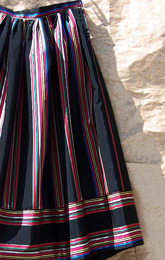 vintage 70s striped faille skirt