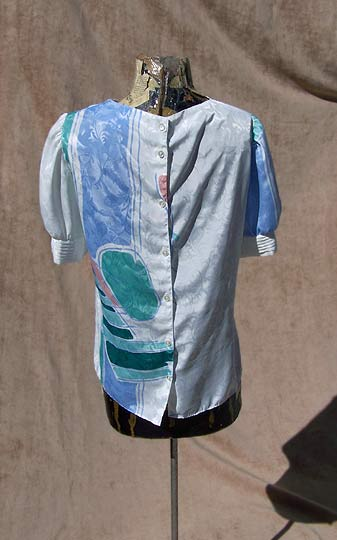 vintage 80s miami style new wave top