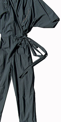 80s new wave wrap jumpsuit