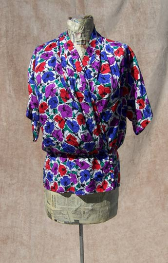 vintage 80s 90s Papell silk top