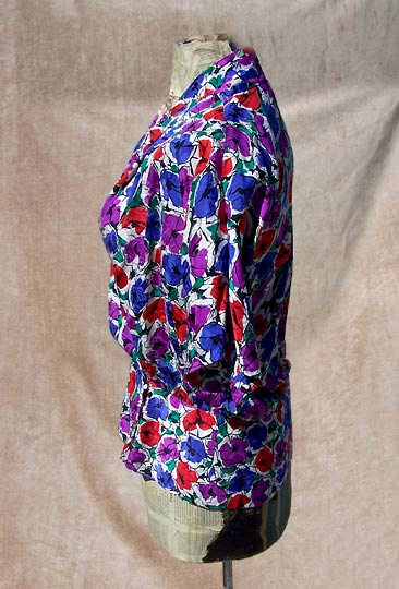 vintage 80s 90s Papell silk blouse