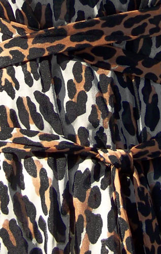 vintage 50s leopard print nightgown