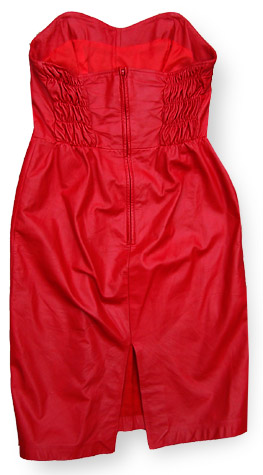 80s red leather dress