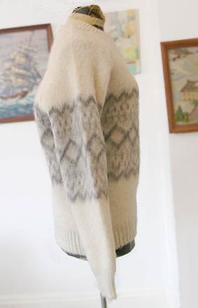 vintage scotch wool pattern sweater