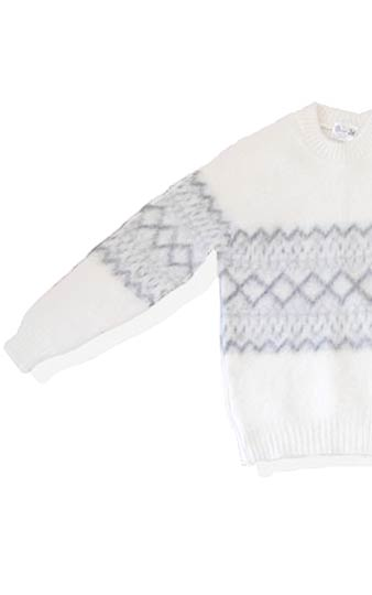 vintage british wool pattern sweater