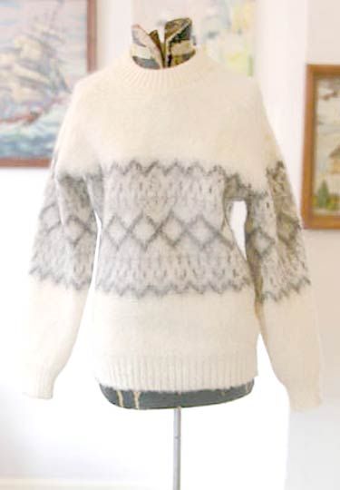 vintage scots wool pattern sweater