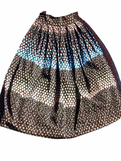 vintage 50s polka-dot cotton skirt