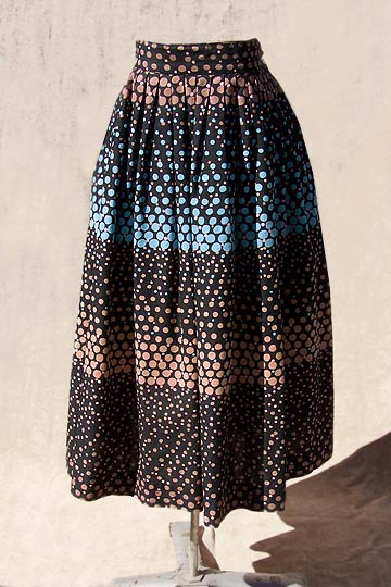 vintage 50s polka dot cotton skirt